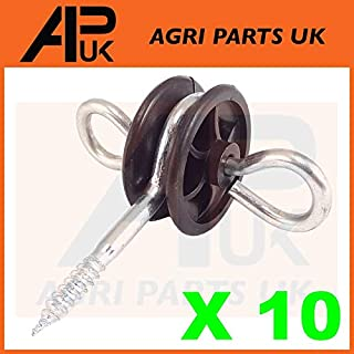 APUK 10 x Electric Fence Gate Handle Insulators Anchors Tape Screw Poly Rope Fencing
