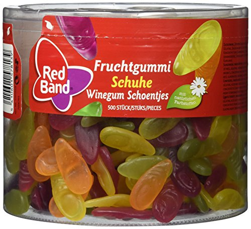Red Band - Fruchtgummi Schuhe - Dose mit 1250 Gramm