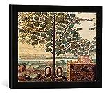 Gerahmtes Bild von Daniel Bretschneider der Jüngere Stammbaum/Gem.v.Bretschneider, Kunstdruck im hochwertigen handgefertigten Bilder-Rahmen, 40x30 cm, Schwarz matt