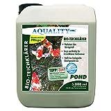 AQUALITY Bio-TeichKlärer für Ihren Gartenteich (GRATIS Lieferung in DE - Deutlich Besser, nachhaltig für kristallklares Wasser, entfernt Trübungen + GRATIS Klarwasser Filtervlies), Inhalt:5 Liter