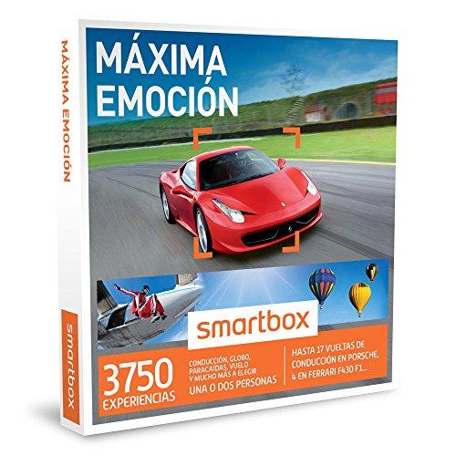 SMARTBOX – Caja Regalo – MÁXIMA EMOCIÓN – 3750 atrevidas actividades como conducción, paracaídas y mucho más a elegir