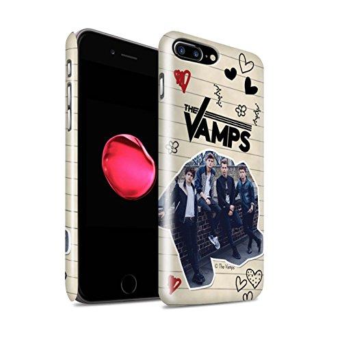 Offiziell The Vamps Hülle / Glanz Snap-On Case für Apple iPhone 7 Plus / Ausgeschnitten Muster / The Vamps Doodle Buch Kollektion Schwarz Stift