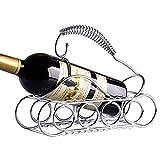 Sayou® Weinregal Edelstahl / Wine Bottle Holder / Ausgefallener FlaschenstäNder / Weinflaschenhalter / FlaschenstäNder (Tank Shape)