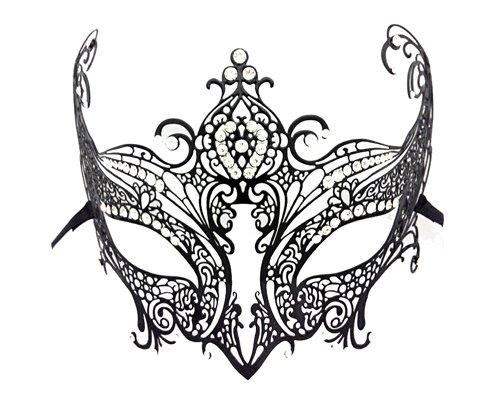 aske Venetian Style Maskerade Maske Metall Filigran Laserschneiden Maske für Prom Party - Fuchs ()