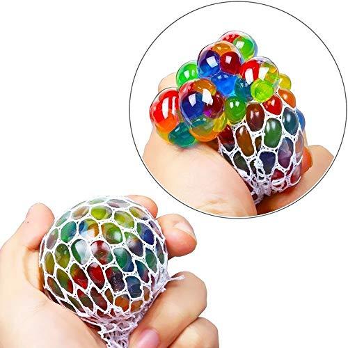 DOXMAL Mesh Balls LED Squishy leuchten Bunte Angst Relief Bounce sensorische Gripper Ball Squeeze Schleim Mesh Jelly Grape Ball Prime Geschenk Urlaub Geburtstag Thema Party Favors Supplies