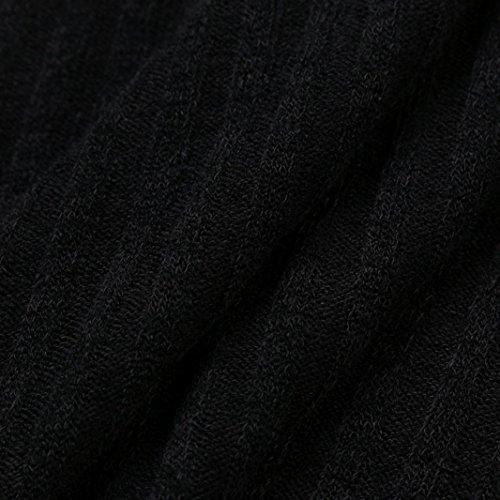 DAY8 blouse femme soiree printemps manteau femme hiver vetement femme pas cher fashion chemise femme grande taille sweat t shirt femme dentelle pull femme chic top haut fille Col roulé Noir