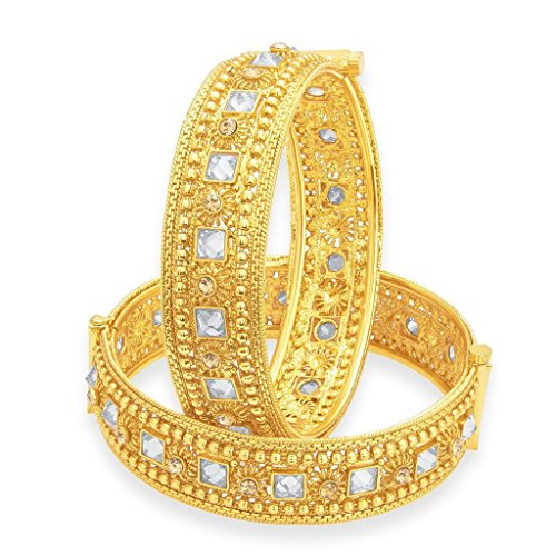 Sukkhi Splendid Gold Plated American Diamond Bangle For Women