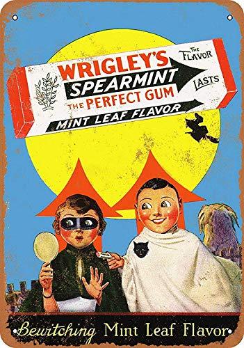 Sary buri Metal Poster Sign Spearmint Gum Halloween Plaque Wandkunst Garage Club Bar Dekoration