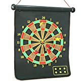 #5: OTE Magnet Dart Board Game Double Faced for kids ,Double Sided Magnet Dart Board with 6 Darts, Size- 15 Inches