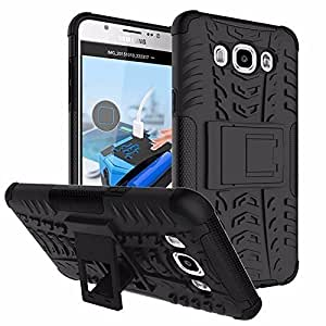 Rapid Zone Kick Stand Spider Hard Dual Rugged Armor Hybrid Bumper Back Case Cover for Samsung Galaxy Grand 2 - Black