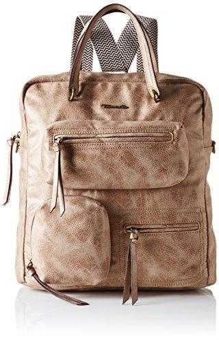 Tamaris Damen Emilia Backpack Rucksack, Beige (Sand), 17 x 35 x 35 cm