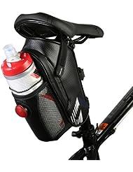 Vertast Vélo étanche Sac de selle vélo Support pour bouteille d'eau pour VTT CTB sous Assise sacoche de vélo avec feu arrière