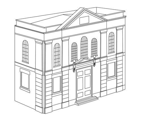 Hornby Calibre 00 Bas Relief de Construction de Hall