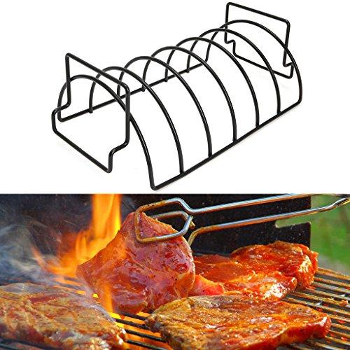 Kimruida Antihaft-Metall Drahtständer BBQ Grill Steak Halter Braten Rib Rack Küche Werkzeug Grill Tool Set