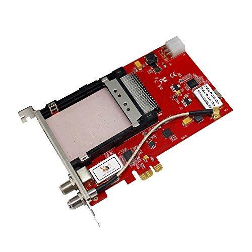 TBS6680 Tarjeta Sintonizador PCIe DVB-C Dual Tuner DVB-C Dual Slot QAM para la televisión por cable - Tarjeta PCI Express DVB-C 2 tuners 2 CI Slot para 2 tarjetas de TV de pago encriptado y TV clara