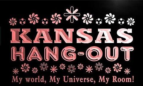 pq2016-r Kansas Hang Out Girl Kid's Princess Room Neon Light Sign
