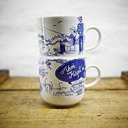 Kaffeebecher 2er-Set - Ober- und Unterwasser - Maritime Porzellan-Tasse original aus dem Norden
