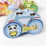 SKNSM Sparschwein Fahrrad Sparschwein Spaß Weißblech Aufbewahrungsbox (Blau) für Ein Geschenk