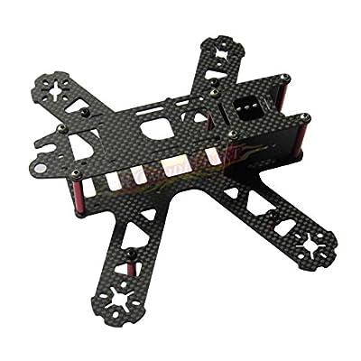 Rcmodelpart 3K Carbon Fiber 210mm Mini FPV Drone Frame Kit V2 for QAV210 Racing Quadcopter by Rcmodelpart