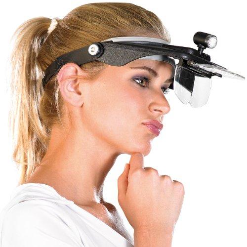 """Preisvergleich Produktbild AGT Lupenbrille: Stirnlupe """"Profi"""" mit versch. Vergrößerungen (Stirnlupe mit Beleuchtung)"""