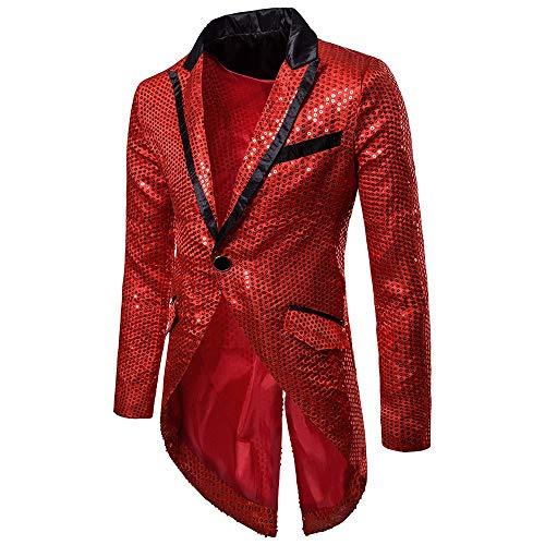 JackRuler Mode Charme Männer Casual Pailletten One Button Fit Anzug Blazer Mantel Jacke Party Top Abendkleid Smoking Mittlerer und Langer Abschnitt