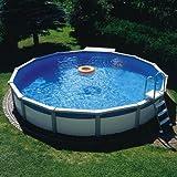 Poolzon Schwimmbecken Megazon 3,60 x 1,32m mit 15cm breitem Handlauf, Stahlwandbecken