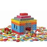 Baukasten 500 Stück Bausteine Bauklötze Spielzeug für Kinder ab 3 Jahre Konstruktionsspielzeug Konstruktion Set Groß XXL