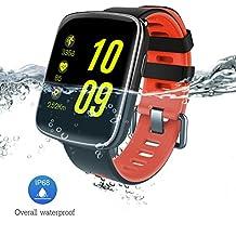 Reloj inteligente con Pulsómetro, Impermeable IP68 reloj deportiva Inteligente, Fitness Tracker con Monitor de sueño, Sensor de ritmo cardíaco, Podómetro, Contador de caloría, Smart Wristband Bracelet Bluetooth pulsera inteligente para Android y IOS