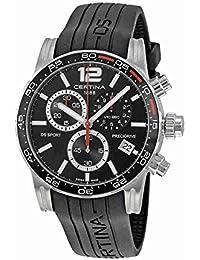 Certina DS Sport Homme Bracelet Silicone Noir Boitier Acier Inoxydable Quartz Montre C027.417.17.057.02