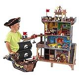 KidKraft 63284 Pirate's Cove - Set Covo dei Pirati, con Vascello e Pupazzetti Inclusi, in Legno, per Bambini