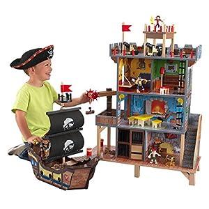 Kidkraft 63284 Pirate'S Cove - Set Covo dei Pirati, con Vascello e Pupazzetti inclusi, in Legno, per Bambini Spagnolo, Sconosciuto LEGO