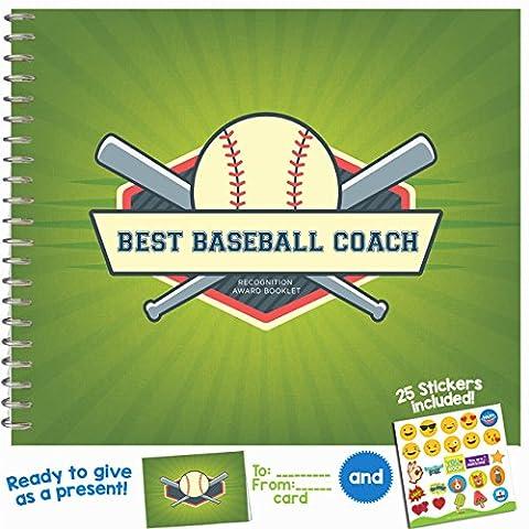 Meilleur Coach Livret de prix de reconnaissance baseball