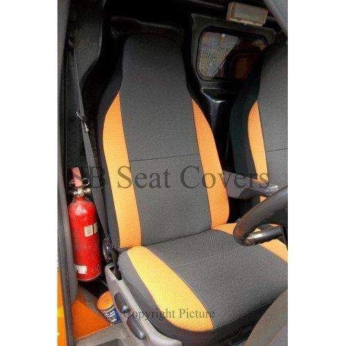 Preisvergleich Produktbild Für Peugeot EXPERT 2010Transporter, Sitzbezüge, anthrazit/orange Verstärkungen (1Single + 1Doppelbett)
