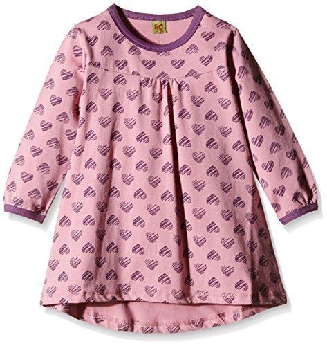 CELAVI Mädchen Schlafanzugoberteil Night Dress Ls W.Girl Print, Rosa (Rose), 5 Jahre