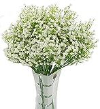 LNHOMY - 10 Flores Artificiales de gypsophila con Tacto Real para el Aliento del bebé, Flores de Seda...