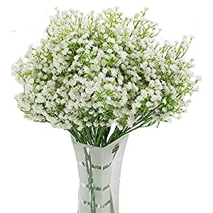 LNHOMY – 10 Flores Artificiales de gypsophila con Tacto Real para el Aliento del bebé, Flores de Seda Artificial, para…