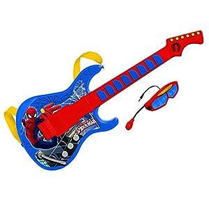 Spiderman- Guitarra electrónica con Gafas y micrófono Incorporado (Claudio Reig 557) Juguete Musical (REIG557)