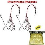 #3: Hunting Hobby 2Pcs Carp Fishing Hooks Power Bait