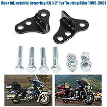 """KKmoon Kit de Bajada Ajustable Trasera, 1-2"""" para Harley Touring Bike 1993-2001"""