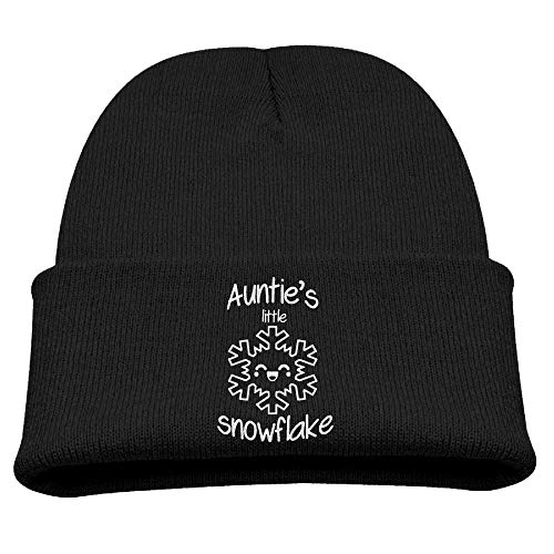 ADGoods Kids Children Auntie's Little Snowflake Christmas Beanie Hat Knitted Beanie Knit Beanie for Boys Girls Kinderbaseballmütze -