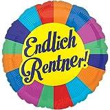 paduTec Endlich Rentner - Ruhestand Rente - Ballon geeignet zur befüllung mit Helium Gas oder Luft - UNGEFÜLLT