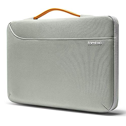"tomtoc 13 Zoll Laptop Tasche Hülle wasserdicht für MacBook Pro 13"" 2019-2016, MacBook Air 2018, Surface Pro X/7/6/5/4, Dell XPS 13 Laptoptasche Notebook Sleeve Laptophülle Case Schutzhülle Grau"