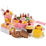 Finer Shop Kunststoff Obst Gemüse Kuchen Rollenspiele Spielzeug für Kinder Frühe Entwicklung und Ausbildung