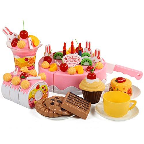 Couper--Gteau-Finer-Shop-75pcs-Jouet-Gteau-Anniversaire-Plastique-Birthday-Cake-Pretend-Jouer-de-Coupe-Jouet-Alimentaire-Cuisine-pour-enfants-rose