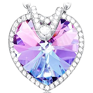 NEEMODA Heart Necklace for Women Crystal Pendant Jewellery Gifts for Her