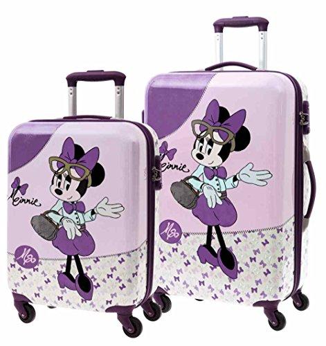 Disney Minnie Glam Equipaje Infantil, 97 Litros, Color Rosa