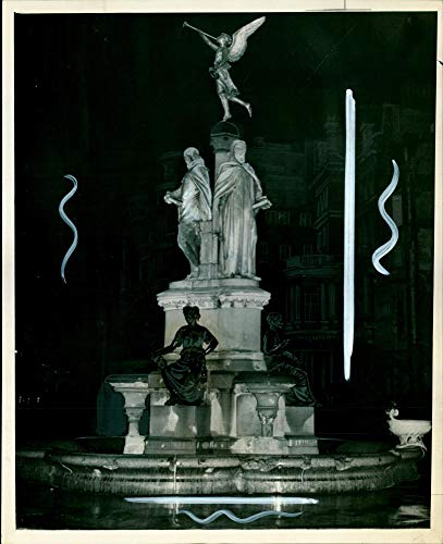 Vintage Photo of The Poet's Fountain at The Junction of Park-Lane and Hamilton-Place.