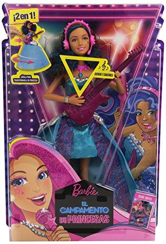 Barbie - Erika, estrella pop, en campamento de princesas (Mattel CMT06)