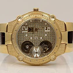 Aqua Master Mens Automatic Diamond Watch 0.20ctw W212