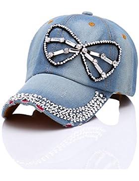 Gexing Diamante Gorra De Béisbol Sombrero Vaquero Casquillo De Hip-hop Lentejuelas Un Paquete De 3